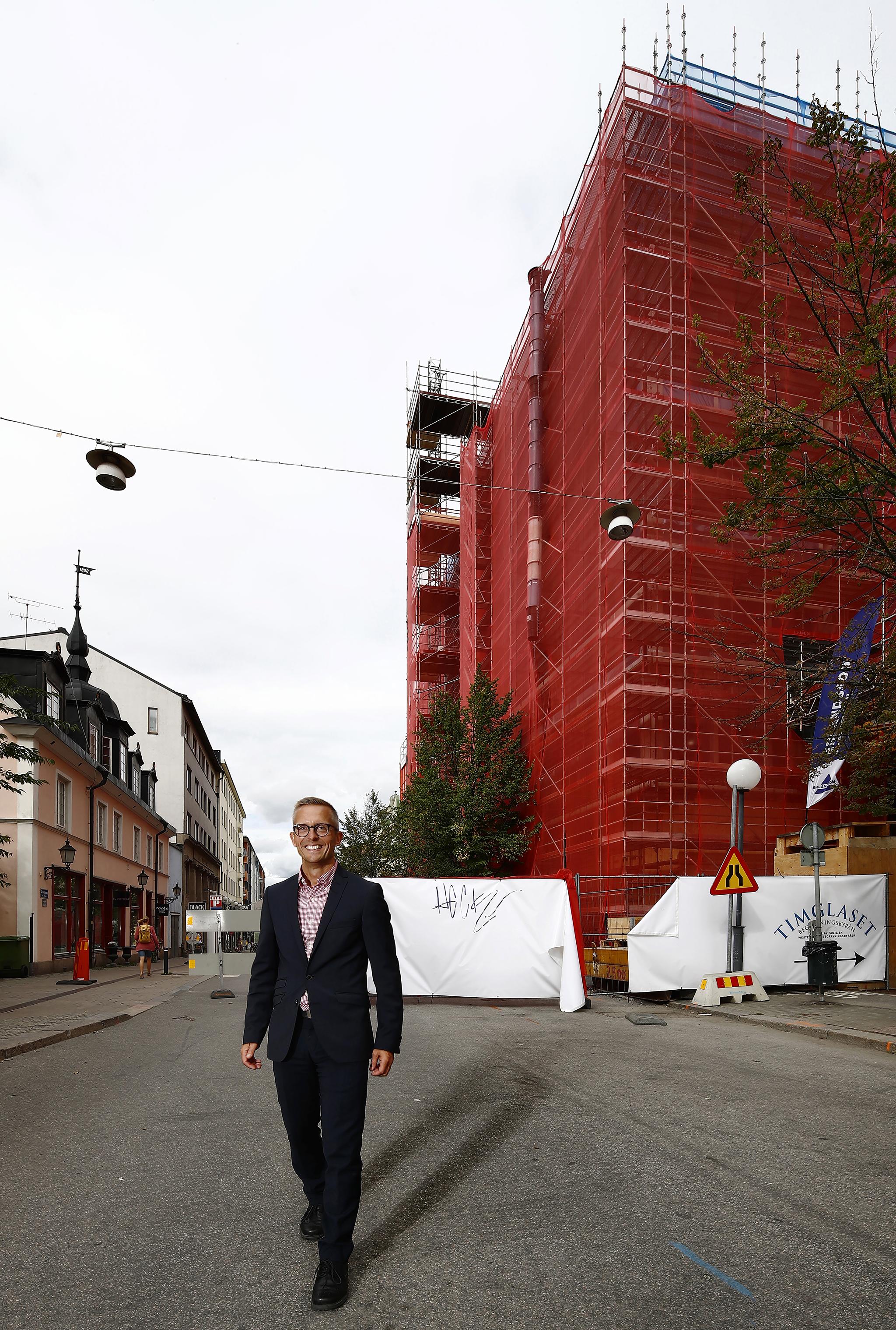 160902 Sven Eggefalk, VD för Länsförsäkringar Östgöta 2 september 2016 i Norrköping. Foto: Peter Holgersson AB
